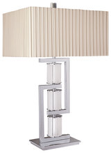 Minka-Lavery 12355-1-77 - 1 Light Table Lamp in Chrome Finish w/ Frosted Glass