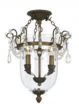 Crystorama 5711-AB - Crystorama 2 Light Antique Brass Ceiling Mount