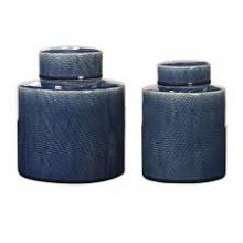 Uttermost 18989 - Uttermost Saniya Blue Containers, S/2