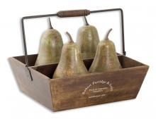 Uttermost 19170 - Uttermost Decorative Pears In Basket Set/5